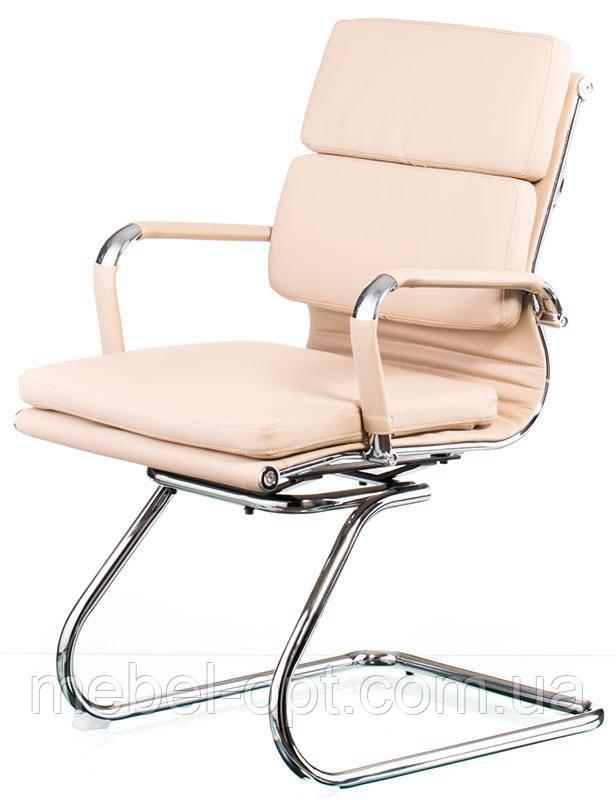 Кресло для конференц залов Solano 3 confеrеncе bеigе реплика дизайнерского кресла Eames Style