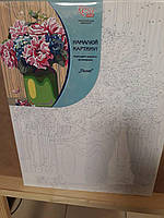 """Набор, акриловая живопись по номерам """"Пионы"""", ROSA START, 0001370"""