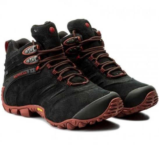 Ботинки мужские Merrell CHAM II WTRF MID LTR J09379 Black  Черные
