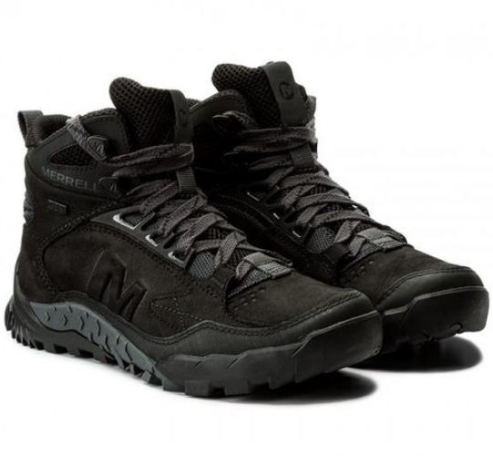 Оригинал Зимние мужские ботинки Merrell Annex TRAK MID WTRF J91789 Black Черные