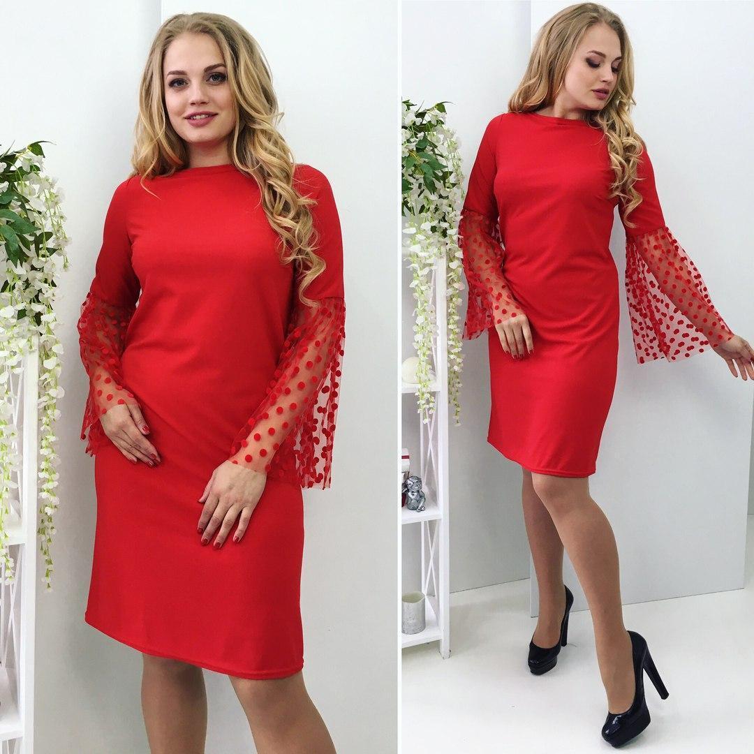 Элегантное платье  (48-54)