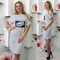 Элегантное платье  клубничка   (48-54), фото 3