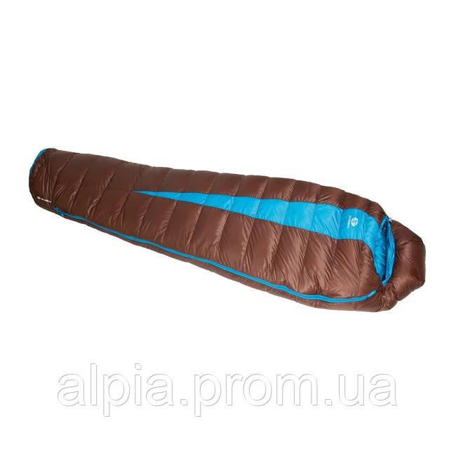 Пуховый спальный мешок Sir Joseph Paine 400/190/-5°C Brown/Turquoise (Right)
