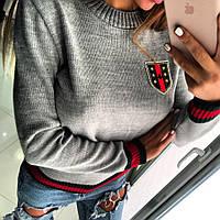 Женский свитер на манжете