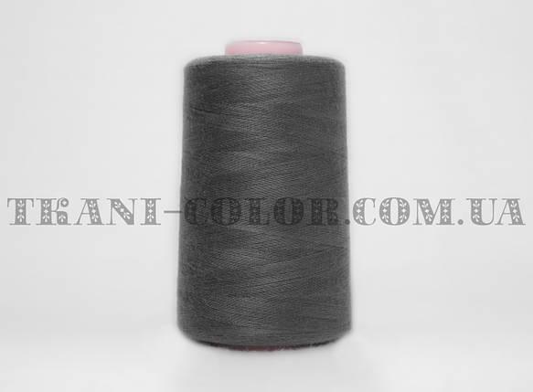 Нитка швейная 40/2 темно-серая 4000 ярдов, фото 2