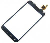 Тачскрин для LG P715 Optimus L7 II Dual Sim, черный, оригинал