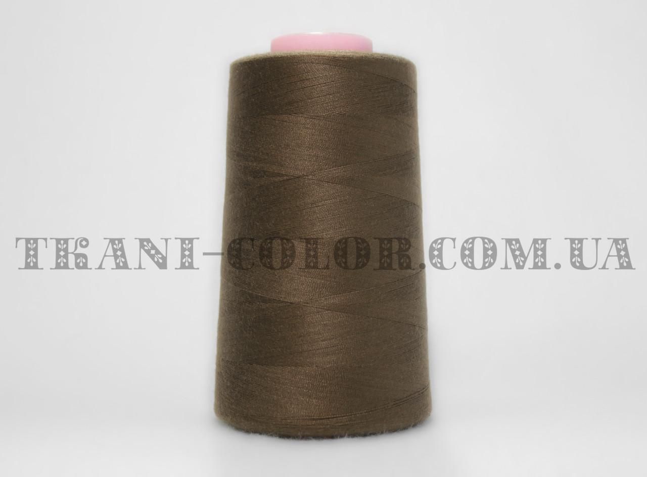Нитка швейная 40/2 коричневая 4000 ярдов