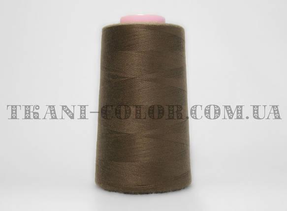 Нитка швейная 40/2 коричневая 4000 ярдов, фото 2