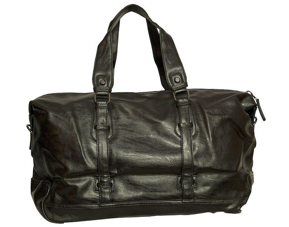 2caf752e4863 Оригинальная дорожная сумка кожзам 835 черный - SUPERSUMKA интернет магазин  в Киеве