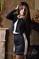 Облегающее платье  с имитацией жакета ск1078, фото 1