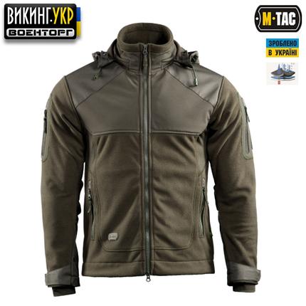 """M-Tac куртка флисовая Norman одинаково отлично подойдет на прохладную и холодную погоду благодаря материалу WindBlock и вставкам Softshell . В первом случае Вы ее сможете использовать как внешний слой, во втором как утеплитель под курточку или парку. Изготовлена из 100% полиэстера. Структура мембранной решетки WindBlock рассчитана на условия низких и максимально низких температур таким образом, чтобы 80% тепла тела отражалось от поверхности внутрь и только 20% (излишнее тепло при активных действиях при низких температурах) выходило наружу через мембранную решетку. Большинство современных мембранных тканей с поверхностным полиуретановым напылением не предназначены для максимально низких температур в связи с тем, что полиуретан твердеет при низких температурах, что в последствии приводит к твердению ткани в целом. Следствием этого является характерное """"шуршание"""" при передвижениях. В мембранной термоткани WindBlock для защиты мембраны используется не полиуретановое напыление, а плотный полиэстро-структурированный ворс (изнутри и снаружи мембраны), что защищает мембрану от воздействия низких температур, истирания (как изнутри, так и снаружи) и создает дополнительную утепляющую воздушную прослойку изнутри одежды из WindBlock."""