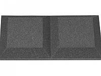 Панель из акустического поролона Ecosound Duos 50мм,25х50см цвет черный графит, фото 1
