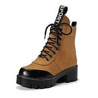 Для женщин Обувь Замша Осень Зима Модная обувь Армейские ботинки Удобная обувь Оригинальная обувь Ботинки На толстом каблуке Круглый носок 06239086