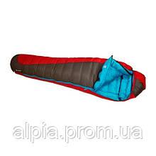 Пуховый спальный мешок Sir Joseph Erratic plus II 1000/190/-14.3°C Red/Blue (Right)