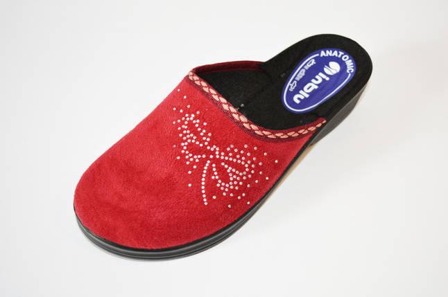 Тапочки женские бордовые Inblu, фото 2
