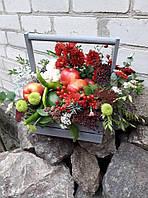 Овощи,фрукты и цветы в деревянном ящичке