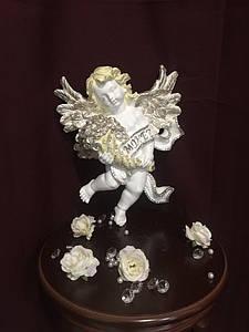 Ангел подвесной с монетами, пастель