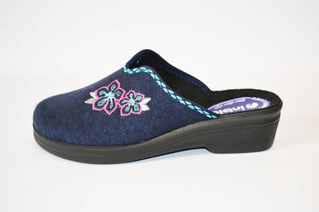 Синие женские тапочки Inblu, фото 2