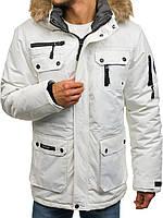 Зимняя мужская куртка лыжная на синтетическом пуху