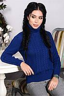 Женский теплый свитер  из шерсти