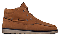 Мужские зимние замшевые ботинки на меху, коричневые