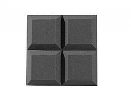 Панель з акустичного поролону Ecosound Quatro 50мм,50х50см колір чорний графіт