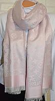 Шарф палантин в стиле Louis Vuitton (Луи Витон) розовый