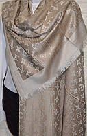Шарф палантин в стиле Louis Vuitton (Луи Витон) капучино