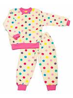 Махровая пижама-комплект для домашней носки для девочки, фото 1