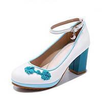 Для женщин Обувь на каблуках Удобная обувь Детская праздничная обувь Крошечные Каблуки для подростков Лакированная кожа Весна Осень 06094824