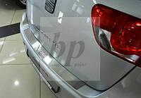 Защитная хром накладка на задний бампер (планка без загиба) seat altea xl (сеат/сиат альтеа хл 2006г+)