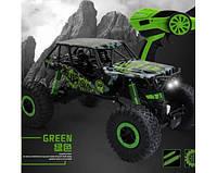 Машина на радиоуправлении зеленый Rock Crawler HB-P1001