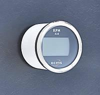 Цифровой тахометр со счетчиком моточасов ECMS (черный)