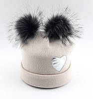 Теплая ангоровая шапка детская 50-56р оптом