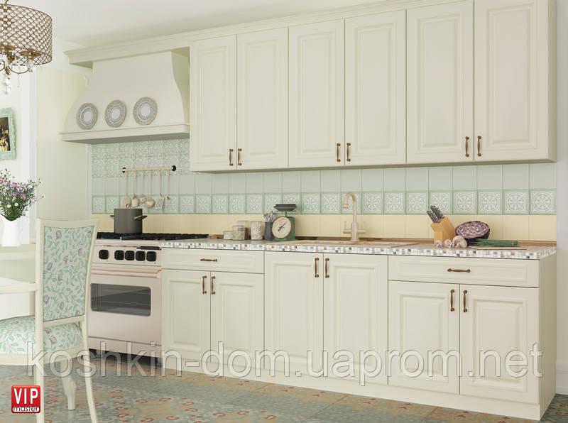 Кухня модульная Amore Classic слоновая кость 1800 мм MDF крашенный мат