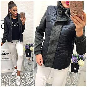 Курточка комбинированная