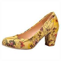 -Для женщин-Свадьба Для праздника Для вечеринки / ужина-Полиуретан-На толстом каблуке-Удобная обувь Обувь для девочек-Обувь на каблуках 05810123