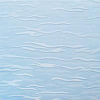 Рулонные шторы Lazur. Тканевые ролеты Лазурь (Ван Гог) Голубой 2074, 77.5 см