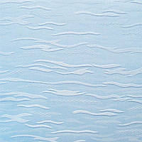 Рулонные шторы Lazur. Тканевые ролеты Лазурь (Ван Гог) Голубой 2074, 87.5 см