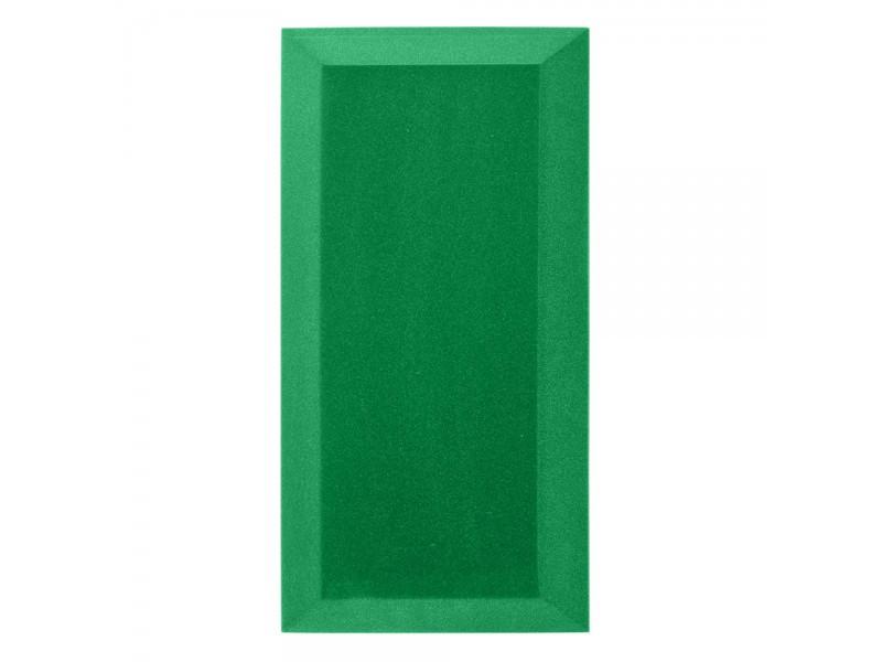 Бархатная акустическая панель из акустического поролона Ecosound Velvet Green 50х25см 50мм. Цвет зелёный