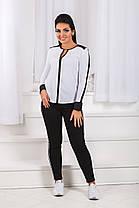 ДТ0786 Джинсы американка с лампасами размеры 42-48, фото 3