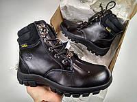 Мужские зимние ботинки Timberland Black с мехом (черные)