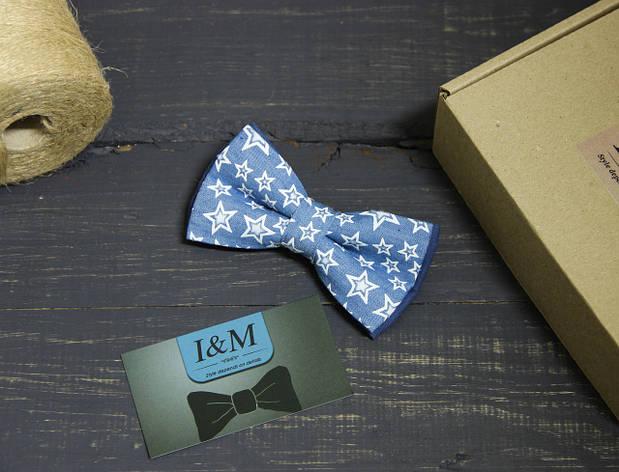 Галстук-бабочка I&M Craft со звёздами (00046), фото 2