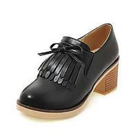 Для женщин Обувь на каблуках Удобная обувь Оригинальная обувь Обувь для дайвинга Дерматин Осень Свадьба Повседневные КистиНа толстом 06123482