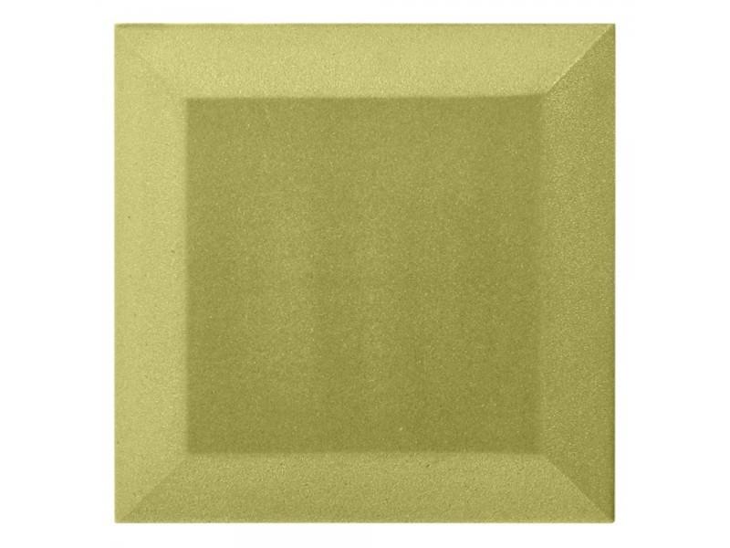 Бархатная акустическая панель из акустического поролона Ecosound Velvet Light Green 25х25см 50мм.
