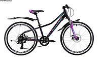 """Подростковый Велосипед CYCLONE DREAM 24"""" Black"""