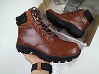Мужские зимние ботинки Timberland Brown с мехом (коричневые)