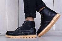 Культовые мужские зимние ботинки  Red wing натур.кожа,теплый мех,прошиты размеры:40-44
