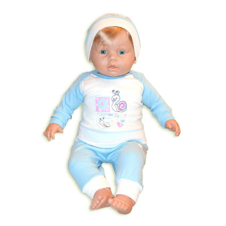 """Пижама для малыша """"Улитка"""" (голубая), 3-6 мес."""