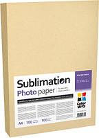 Фотобумага ColorWay, сублимационная, матовая, A4, 100 г/м2, 100 л (PSM100100A4)